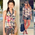 Inspirações para seu look junino com blusa xadrez