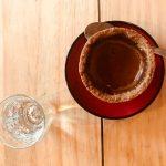 Café na casquinha de cookie com chocolate na #TrilhadoCafé