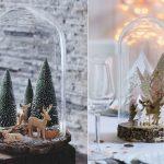 Mesa e decor escandinava para o natal