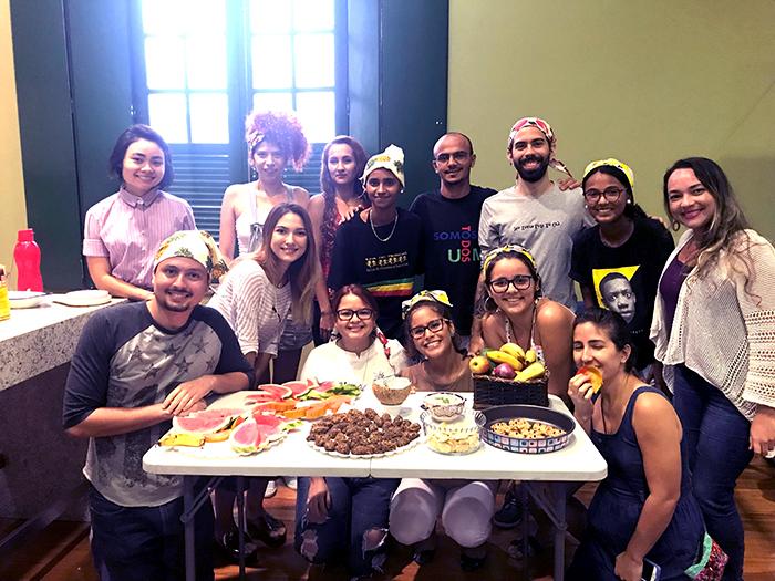Aprendendo sobre culinária vegana na Caixa Cultura de Fortaleza
